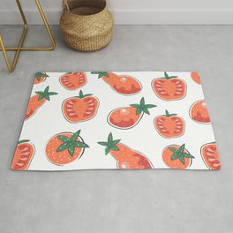 Seamless Pattern with Hand Drawn Cute Tomatoes. Scandinavian Style Rug