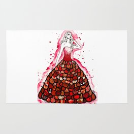 The Red Dress Rug