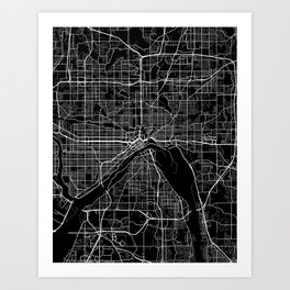 saint paul map minnesota Art Print