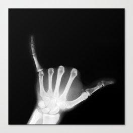 Hang Loose X-Ray Canvas Print