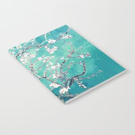 Vincent Van Gogh Almond Blossoms Turquoise Notebook