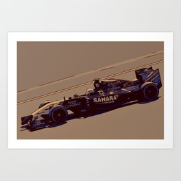 Formula one racer Art Print
