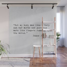 James Joyce Love Quote Wall Mural
