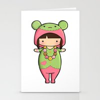 macaron Stationery Cards featuring Kigurumi Macaron by Joanna Zhou