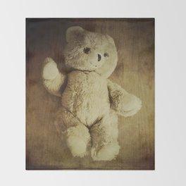 Old Teddy Bear Throw Blanket