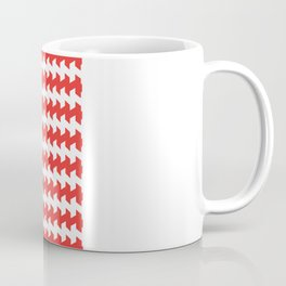jaggered and staggered in poppy red Coffee Mug