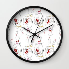 Peace, love and tattoos Wall Clock