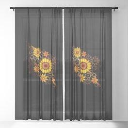 Spring Gear Sheer Curtain