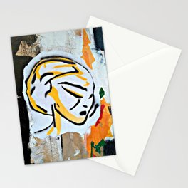 Post - Abstract portraits - Original painting - Marina Taliera Stationery Cards