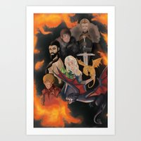 tyrion Art Prints featuring Game of Thrones by MeghanHounsellArt