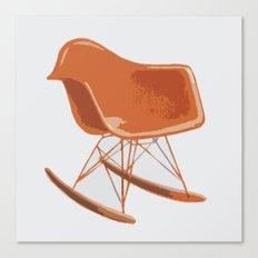 Mid-Century Rocker Chair - Orange Canvas Print