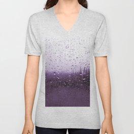 Purple Tears Unisex V-Neck
