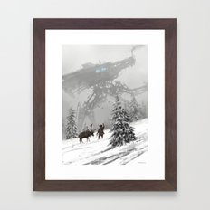 1920 - winter walker Framed Art Print