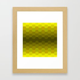 Yellow Honeycomb Fade Framed Art Print