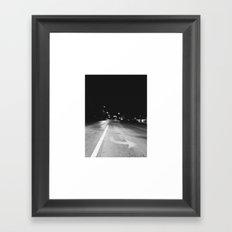Crazy Nights & Street Lights  Framed Art Print