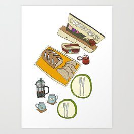 Breakfast Time (Coronation Street) Art Print