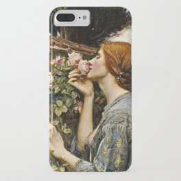 John William Waterhouse - The soul of the rose iPhone Case