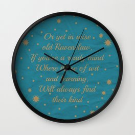 Ravenclaw House Pride Wall Clock
