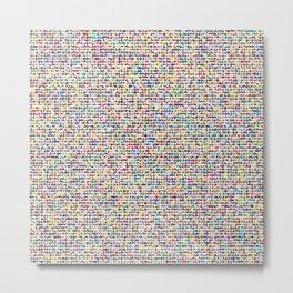 Cuben mini cube grid Metal Print