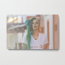 Fuck It Metal Print