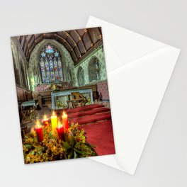 Christmas Candles  Stationery Cards