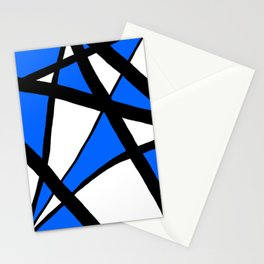 China Blue Geometric Triangle Abstract Stationery Cards