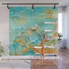 Onyx - blue and orange Wall Mural