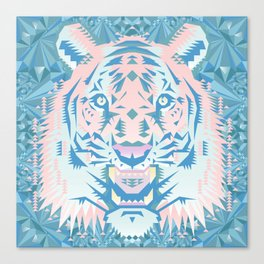 Pastel Quartz Tiger Canvas Print