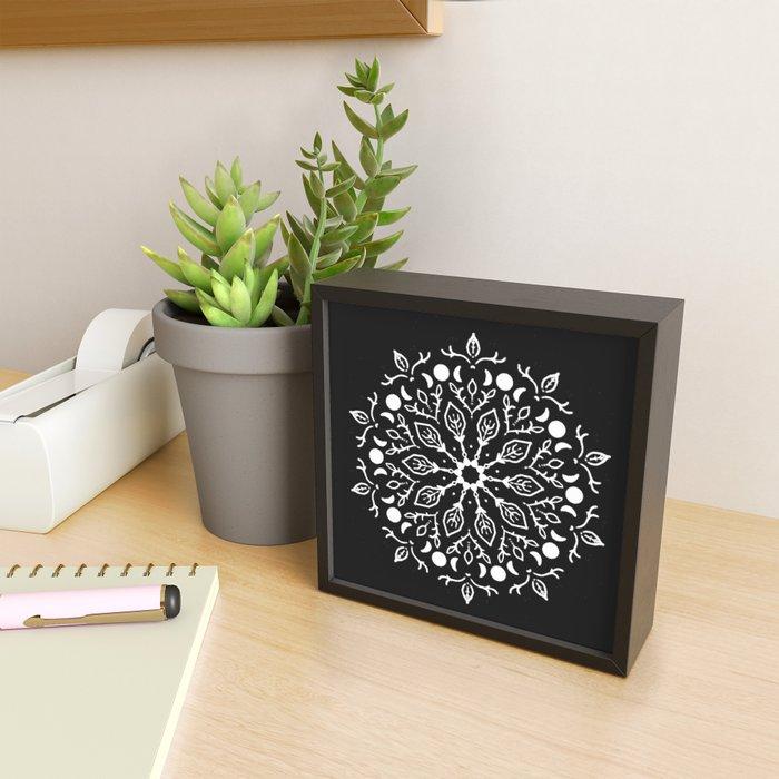 Magic Mandala Triple Moon Framed Mini Art Print