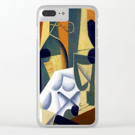 Juan Gris White Tablecloth Clear iPhone Case