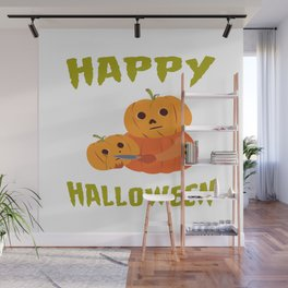 Halloween Funny Pumpkin For Halloween Motto Party Wall Mural