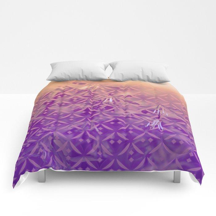 Mosaic flower Comforters