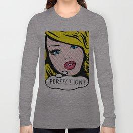 Perfection Pop Art Girl Long Sleeve T-shirt