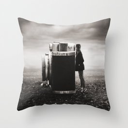 Looking Through Time Throw Pillow