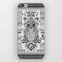 Legend of Zelda inspired Deku Nuts Vintage Advertisement iPhone Skin