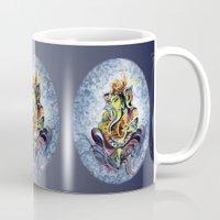 ganesha Mugs featuring Ganesha by Harsh Malik