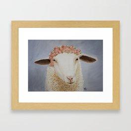 Crowned Lamb Framed Art Print