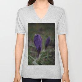 Purple Crocus Unisex V-Neck