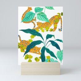 Leopards Playing among Plants Mini Art Print