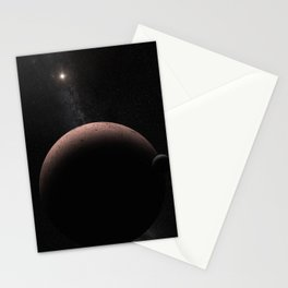 1698. Moon over Makemake  Stationery Cards
