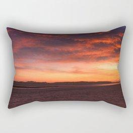 Scarlet Sunrise Rectangular Pillow