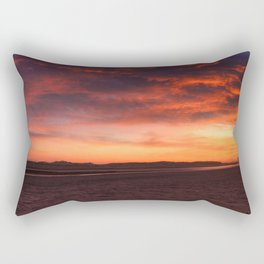 Scarlet Sunrise Rectangular Pillow