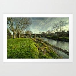 Culmstock Bridge Art Print