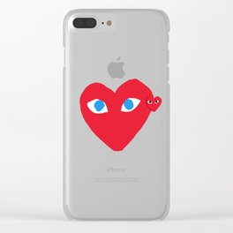 CDG Play Clear iPhone Case