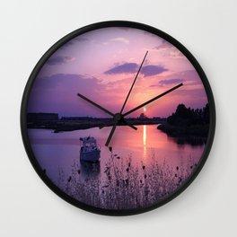 red sun Wall Clock