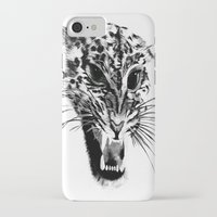 snow leopard iPhone & iPod Cases featuring Snow Leopard by pbnevins