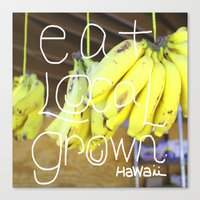 eat Canvas Prints featuring eat by kyox art hawaii
