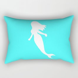 Mermaid teal Rectangular Pillow