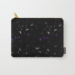 Dandelion Seeds Asexual Pride (black background) Carry-All Pouch