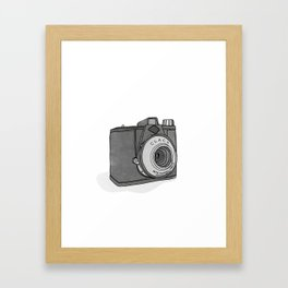 Vintage Analog Camera - Agfa Clack (B&W Edition) Framed Art Print